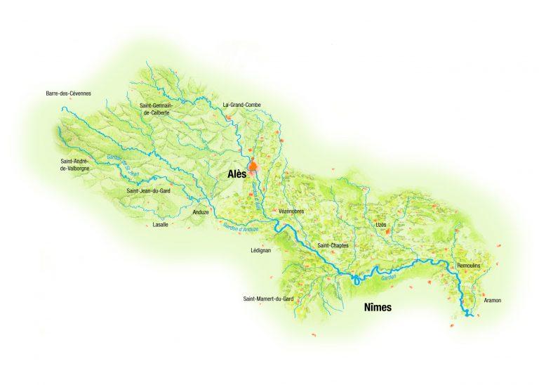 bassin versant des Gardons